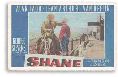 Vintage movie poster for the classic Western, Shane.